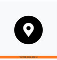 location icon round button icon for your website vector image