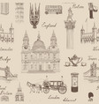 london landmark seamless pattern travel europe vector image vector image