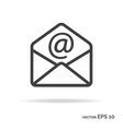 mail outline icon black color vector image vector image