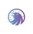 modern flying starling logo vector image