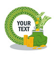 money savings concept text vector image