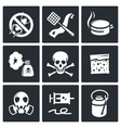 No insects icon collection vector image