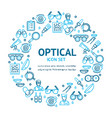 optical signs round design template thin line icon vector image