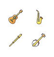 orchestral musical instruments rgb color icons set vector image