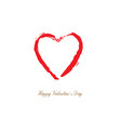 red brush drawing calligraphy heart vector image vector image