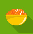 red caviar icon flat style vector image