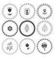 scandinavian folk art frames cute floral vector image