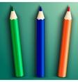 school color pencils vector image vector image