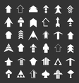 set icons arrows vector image vector image