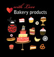 set of different baking vector image vector image