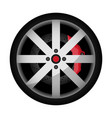 side view sports car wheel icon vector image