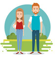 standing couple design vector image vector image