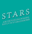 stars letters and numbers in vintage style vector image