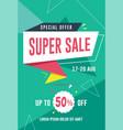 super sale flyer template vector image