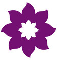 thick contour violet with icon flower vector image vector image