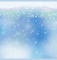 transparent falling snowflakes isolated on vector image vector image