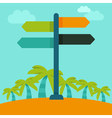 travelling concept in flat style vector image vector image
