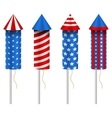 Set of Pyrotechnic Rockets with Traditional vector image