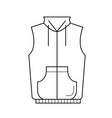 vest jacket line icon vector image