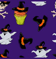 a bright seamless pattern for halloween vector image vector image
