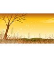 A landscape with a dying tree vector image vector image