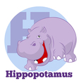 ABC Cartoon Hippopotamus3 vector image
