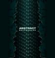 abstract crack metal green banner vector image
