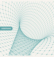 abstract tunnel grid 3d can be used as digital vector image vector image
