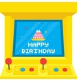 Arcade machine cake birthday vector image vector image