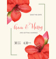 beautiful floral wedding invitation in watercolor vector image