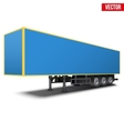 Blank blue parked semi trailer vector image vector image