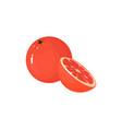 cartoon fresh grapefruit isolated icon on white vector image