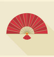 chinese folding handheld fan vector image vector image