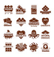 chocolate badges logo design for sweets cacao vector image
