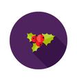 christmas rowanberry flat icon vector image