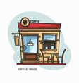 coffee house or shop store for drinks vector image vector image