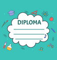 colorful diploma certificate vector image