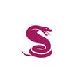 creative purple king cobra logo vector image