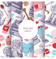 cupid statue seamless pattern vector image