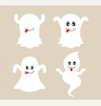 cute ghost cartoon collection vector image