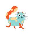 cute smiling funny cat sweet animal pet character vector image