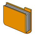 documents folder isolated icon vector image vector image
