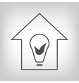 Eco house with bulb and leaves vector image vector image