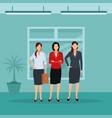 executive women cartoon vector image vector image