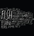 fish wildlife text background word cloud concept vector image vector image