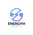 fitness and gym logo design symbol logo bolt vector image