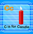 flashcard letter c is for candle vector image
