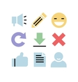 Flat design icons Communication vector image vector image