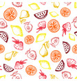 food hand-drawn sketch line icons seamless pattern vector image vector image