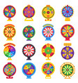 fortune wheel betting wheels lucky spin bankrupt vector image vector image